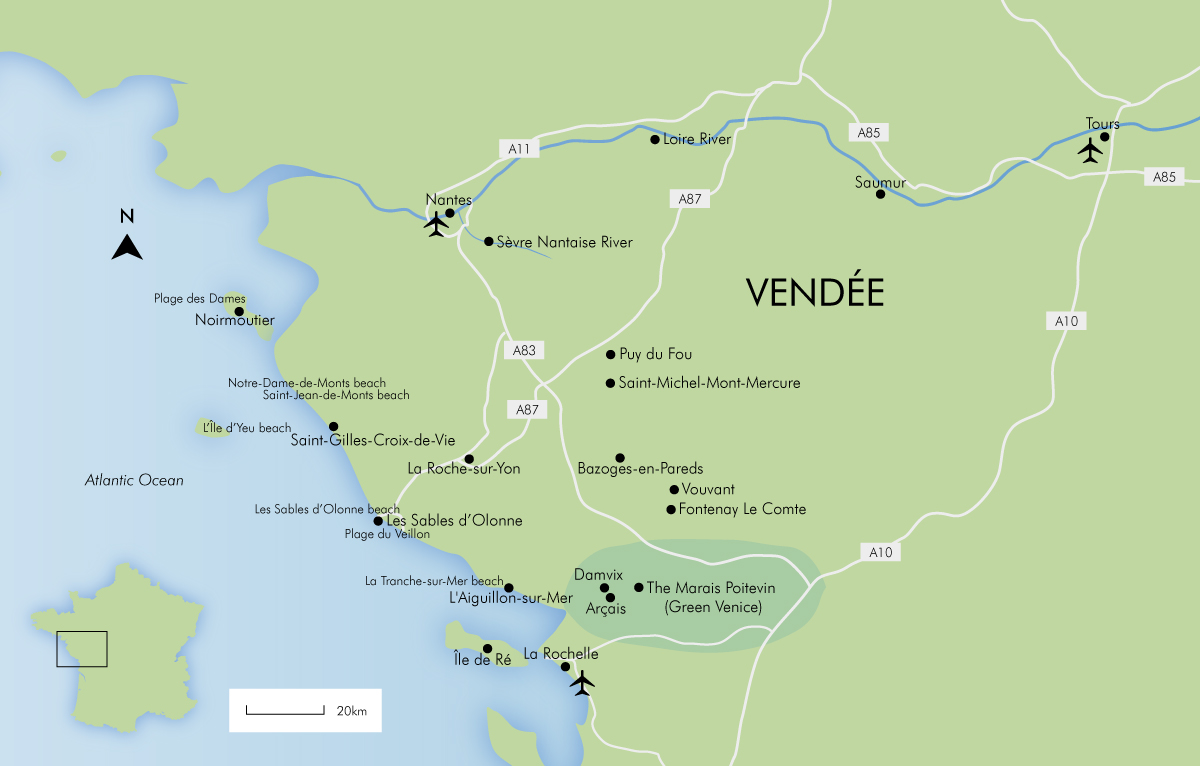 Map Of France Vendee Region.Luxury Vendee Holidays France 2019 20 Simpson Travel